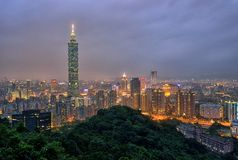 Taipei Cityscape Royalty Free Stock Photo