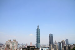 Taipei 101 da montanha de Xiang em Taipei, Taiwan, ROC Imagem de Stock