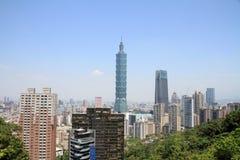 Taipei 101 dalla montagna di Xiang in Taiwan Fotografia Stock
