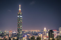 Taipei 101 in Elephant Mountain Stock Photo
