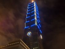 Taipei 101 en la noche fotos de archivo libres de regalías
