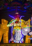 Taipei Longshan temple. TAIPEI - FEB 18 : Chinese new year decorations in Longshan temple in Taipei Taiwan on February 18 2018. The temple was built in 1738 Stock Photography