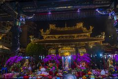 Taipei Longshan temple Royalty Free Stock Images