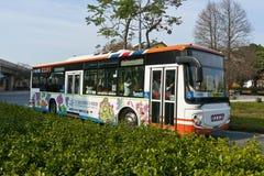 The Taipei Flora BUS. 2010 Taipei International Flower Exhibition shuttle bus Stock Photo