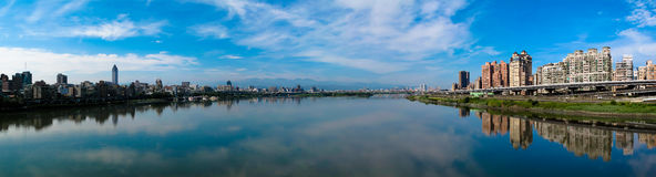 Taipei-Fluss, Taiwan Lizenzfreie Stockfotos