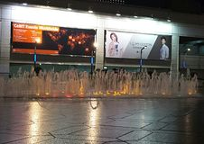 Taipei 101 fontanny przedstawienie Zdjęcia Royalty Free