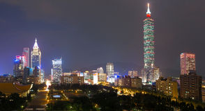`Taipei 101` formerly known as the Taipei World Financial Center. TAIPEI, TAIWAN - 6 OCTOBER 2014: `Taipei 101` formerly known as the Taipei World Financial Royalty Free Stock Photography