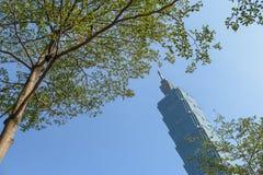 Taipei 101, gränsmärke av Taipei, Taiwan Arkivfoto