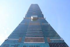 Taipei 101, hög löneförhöjningbyggnad i Taipei, Taiwan, ROC Arkivfoto