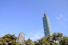 Taipei 101, hög löneförhöjningbyggnad i Taipei, Taiwan, ROC Arkivbild