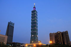 Taipei 101, high rise building in Taiwan night scene. Taipei 101, high rise building in Taipei, Taiwan night scene Stock Images
