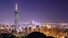 Taipei horisont Fotografering för Bildbyråer