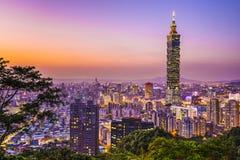 Taipei horisont Royaltyfri Fotografi