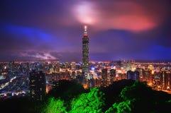 Taipei horisont Taiwan arkivfoto