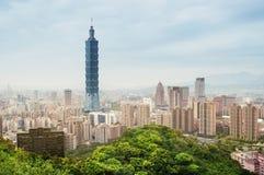 Taipei horisont - Taiwan. Royaltyfri Fotografi