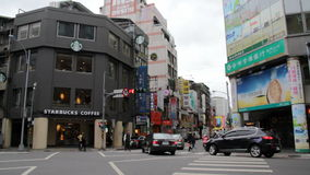 Taipei Hsimending ulicy widok HD zbiory wideo