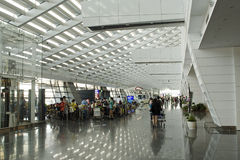Taipei International Airport. A general view of departure lobby Taipei International Airport on July 20, 2014 in Taipei, Taiwan. It's the busiest airport in the royalty free stock photo