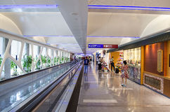 Taipei International Airport. A general view of departure lobby in Taipei International Airport on July 20, 2014 in Taipei, Taiwan. It's the busiest airport in stock images