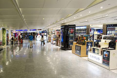 Taipei International Airport. A general view of duty free lobby in Taipei International Airport on July 20, 2014 in Taipei, Taiwan. It's the busiest airport in stock photos