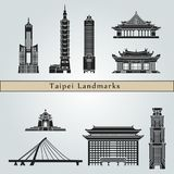 Taipei Landmarks and monuments Royalty Free Stock Images