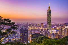 Taipei linia horyzontu Fotografia Royalty Free
