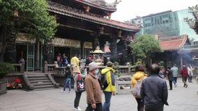 Taipei Longshan Temple. HD stock video footage