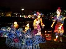 Taipei lyktafestival 2014 Arkivbild