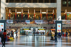 Taipei Main Station. By the Taipei Metro, refers to the old downtown region in Taipei City, Taiwan, where different modes of public transport systems converge royalty free stock photography