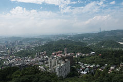 Taipei from the Maokong Gondola Royalty Free Stock Photo