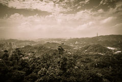 Taipei from the Maokong Gondola Royalty Free Stock Images
