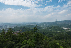 Taipei from the Maokong Gondola Stock Photo