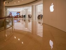 Apple store in the famous Taipei 101. Taipei, MAY 22: Apple store in the famous Taipei 101 on MAY 22, 2018 at Taipei, Taiwan Stock Image