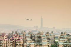 Taipei miasta widok od Surburban terenu Zdjęcie Stock