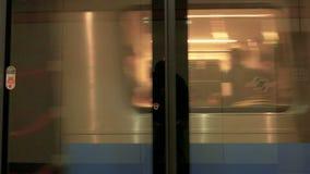 Taipei MRT coach full of passengers, 4K stock footage