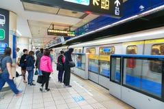 Taipei MRT Platform Royalty Free Stock Photo