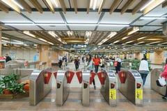 Taipei MRT Platform Stock Photography