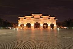 Taipei: Nacht am Freiheitmarktquadrat Lizenzfreies Stockbild