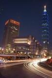 Taipei nachts Lizenzfreie Stockfotografie