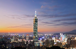 Taipei-Nachtszene Lizenzfreie Stockfotografie