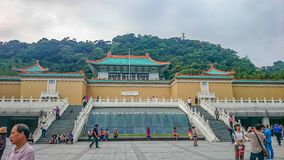 Taipei National Palace Museum with a lot of tourist in vacation time. Taipei/taiwan - April 19 2013:taipei National Palace Museum with a lot of tourist in stock photo