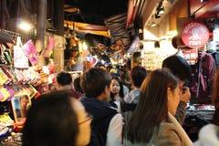 Taipei nattmarknad Royaltyfri Fotografi