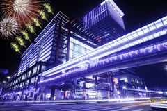 Taipei New Year fireworks Stock Photo
