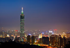 Taipei at night Stock Images