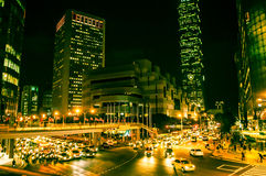 Taipei at night Stock Photography