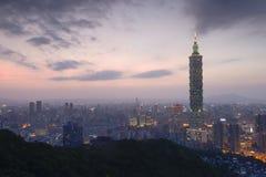 Taipei night stock photography