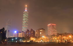 Taipei night cityscape Taiwan. Taipei night cityscape in Taipei Taiwan Stock Images