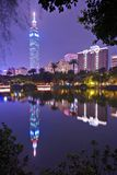 Taipei 101 at Night Stock Photography