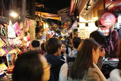 Taipei Night Market Royalty Free Stock Photography