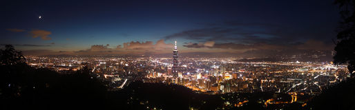 Taipei night scene Royalty Free Stock Photography