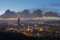 Taipei night scene Stock Photography